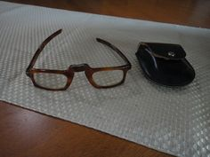 Vintage Revue France folding tortis shell glasses  50 s by maw0707, $95.00
