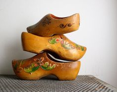 Vintage Dutch Clogs  Two Pairs by shavingkitsuppplies on Etsy, $22.00