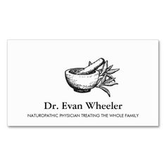 Mortar and Pestle Logo Naturopathic Doctor 2 Pack Of Standard Business Cards