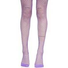 Bright Purple Fishnet Tights ($8) ❤ liked on Polyvore featuring intimates, hosiery, tights, fishnet tights, bright colored tights, leg avenue stockings, purple pantyhose and fishnet pantyhose
