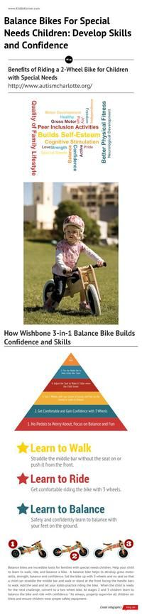 Click here to learn how balance bikes develop skills and confidence in children with special needs: http://kiddokorner.com/blog/balance-bikes-for-special-needs-children-develop-skills-and-confidence.html