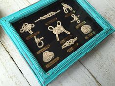 NAUTICAL KNOT SHADOW boxYou pick frame by LacyBellesBoutique