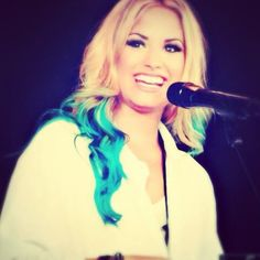 Demi lovato's dip dye hair. You can DIY or get it done at a salon.
