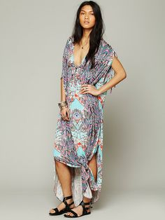 Mara Hoffman for Free People Freedom Run Printed Poncho at Free People Clothing Boutique
