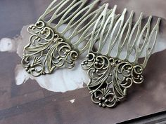 4Pcs Wholesale Antique bronze plated Brass by clothcampDIY on Etsy, $4.50