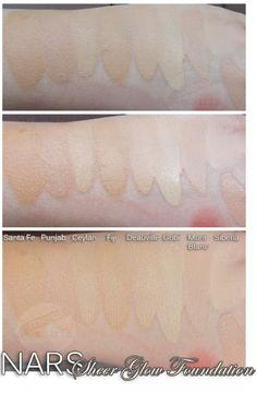NARS Sheer Glow Foundation Swatches (Light)