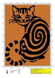 chat - cat - broderie - cross stitch - tournicoton - Point de croix - Blog : http://broderiemimie44.canalblog.com/