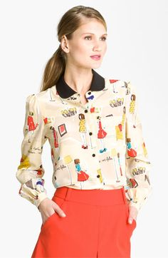 Kate Spade new york 'jessie' silk blouse - Jaime King had this on Hart of Dixie...I searched high and low...I should have known it was my girl Katie!!! OH I want this!!! <3