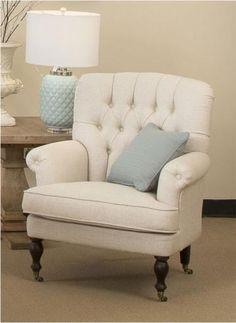 bedroom armchair: Watson Armchair in Light Beige Fabric