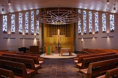Schickel Design, Architect in Cincinnati, created a beautiful Church Design for Xavier University. Experts in liturgical design, Schickel created a peaceful place of worship on this college campus. Society Of Jesus, Xavier University, Church Design, College Campus, Place Of Worship, Colleges, Cincinnati, Ohio, Beautiful Places