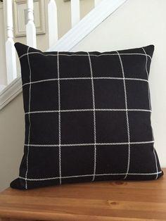 Grey Red Plaid Pillows Tartan Plaid Cushion Cover Grey