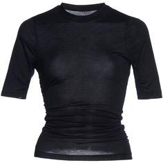 Souk Cotton Jersey T-Shirt | Moda Operandi (67.360 RUB) ❤ liked on Polyvore featuring tops, t-shirts, cotton jersey t shirt, form fitting tops, form fitting t shirts, round neck t shirt and cotton jersey
