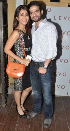 Karan Patel with wife Ankita at Sargun Mehta's birthday bash. #Bollywood #Fashion #Style #Beauty