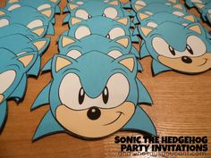 Sonic Invitations with Printable Templates (very easy) Birthday Party Decorations Diy, Birthday Party Invitations, Birthday Party Themes, Boy Birthday, Birthday Ideas, Sonic Birthday Parties, Sonic Party, Valentine Day Boxes, Valentines For Boys