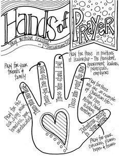 My Five Finger Prayer hand print watercolor art print
