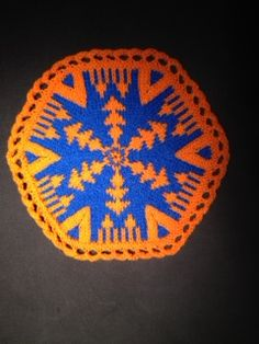 """Karma"" in Mosaic Palette Hexagons Yarn Bombing, Hexagons, Karma, New Books, Circles, Knits, Mosaic, Palette, Knitting"