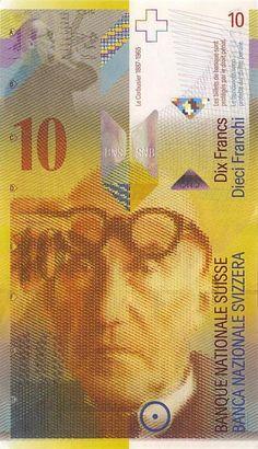 Le Corbusier on the Swiss 10 franc banknote // Le Corbusier en el billete de 10 francos suizos // #architecture stuff
