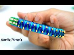 How to make Silk Thread Gold Bead Bangles at Home | Tutorial | Knotty Threadz !! - YouTube