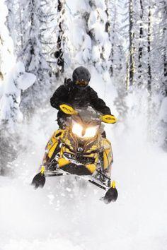 2013 Ski-Doo Renegade Backcountry X in action