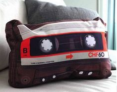 Cool product | pillow | casette | music | retro