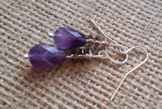 Smoky Quartz and Teardrop Faceted Amethyst