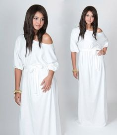 Exceptional White Maxi Dress One Shoulder Cocktail Baby Shower FOR SHERRY