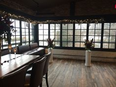 The Porch room set for a simply elegant winter wedding ceremony & reception #virtueevents #winterweddings