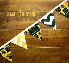 Fabric Bunting banner Baylor Bears chevron dorm by LegallyTwinsane, $17.00