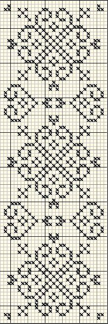 Discover thousands of images about Cross stitch trefoil style border pattern Cross Stitch Bookmarks, Cross Stitch Borders, Cross Stitch Designs, Cross Stitching, Cross Stitch Embroidery, Cross Stitch Patterns, Filet Crochet, Crochet Chart, Crochet Stitches