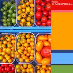 #farbinspiration #tomaten #farbpalette #farbprofil #farbharmonie #farbe #quantität #proportion #farbberatung #stilberatung #interior #design #diefarbberaterin #tomatenrot #rot #gelb #grün #color #palette #scheme #inspiration #tomatoes #colour #consutlant #tomato #red #orange #cyan #green www.diefarbberaterin.eu