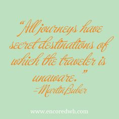 """""""All journeys have secret destinations of which the traveler is unaware."""" #travelquotes"""