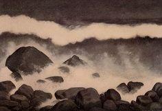 Boelgen Framed Print by Kittelsen Theodor Severin The Wave, Theodore Kittelsen, Framed Prints, Art Prints, All Art, Great Artists, Troll, Art Reference, Landscape Paintings
