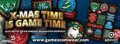 X-MAS TIME IS GAME TIME! Alles was du für ein gameiges Weihnachten benötigst! z.B. das festliche Sticker Sheet! www.gamescomwear.com