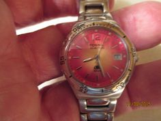 WOMEN'S FOSSIL BLUE QUARTZ CASUAL WATCH,WR 100M,ALL SS,AM-3718 #Fossil #Casual