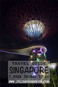 7 best and free things to do in Singapore. A visit to this amazing city can be very expensive, but it doesn't have to be with these activities. So you'll be able to have the best time exploring the city, even on a backpackers budget. Gardens By The Bay, Free Things To Do, Southeast Asia, Travel Guides, Exploring, Singapore, Stuff To Do, Around The Worlds, Budget