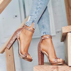 Oh My Glam! ✨ Light Up Your Sole With A Heel That'll Keep You Shinin' From Day-To-Night! •Heels: HIGH MAINTENANCE•