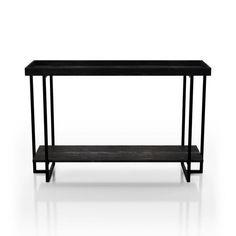 Furniture of America Alivia Black Rustic 2-shelf Sofa Table - Overstock - 30614279