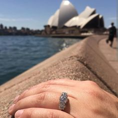 A massive congratulations to J & C on their engagement in Sydney Australia, with their custom made Hyde Park Design Engagement Ring.