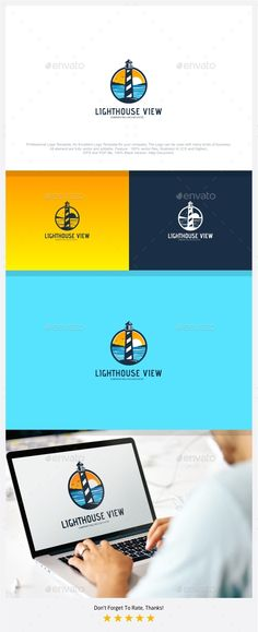 Lighthouse Beach View Logo - Nature Logo Templates Download here : https://graphicriver.net/item/lighthouse-beach-view-logo/18125336?s_rank=62&ref=Al-fatih