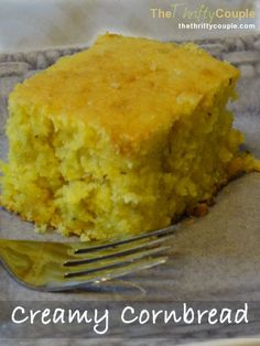 Creamy Cornbread perfect with soup, stew or chili. You can make it with grits and even your own easy buttermilk made from scratch too! It also includes a can of creamed corn for extra creaminess! So good and tasty.