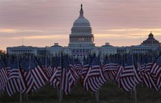 Stunning flag show ahead of Biden inauguration Inauguration Ceremony, National Mall, Event Themes, Flag Stand, Capitol Building, Modern History, New Pictures, Light Up, Places To Travel