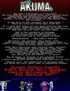Chibi Akumas Episode 2: Confrontation - Teaser Poster 2 http://www.chibiakumas.com #chibiakumas #chibi #akuma #retrogames #retrogaming #gothic #amstradcpc #8bit #チビ #ちび #悪魔