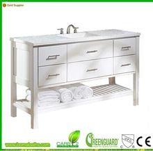 Única de lujo blanco rectangular fregadero de tocador de baño