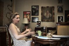 Eszenyi Enikő az irodájában