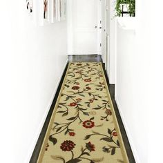 Ottomanson Ottohome Collection Floral Garden Design Modern Area Rugs and Runners with Non-Skid (Non-Slip) Rubber Backing, Beige Modern Color Palette, Modern Colors, Modern Garden Design, Modern Design, Slip And Fall, Floral Area Rugs, Beige Background, Modern Area Rugs, Area Rug Sizes