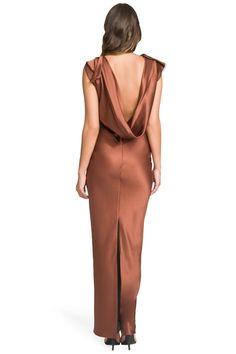 Copper Satin Gown