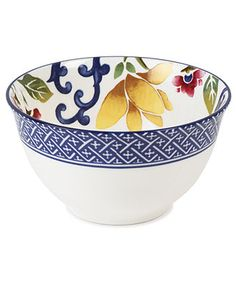 Lauren Ralph Lauren Dinnerware, Mandarin Blue Bowl - Fine China - Dining & Entertaining - Macy's, $16