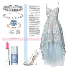 """""""Cinderella"""" by sad-tumblr-girl ❤ liked on Polyvore featuring Notte by Marchesa, Dolce&Gabbana, Bling Jewelry, Rimmel, Miadora and Masquerade"""