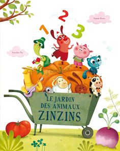 "Amandine Piu - www.piupiu.fr ""Le jardin des animaux zinzins"" Auteur Virginie Hanna- éditions Mic-Mac"