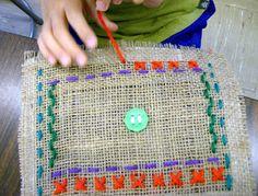 radial stitching. Zilker Elementary Art Class